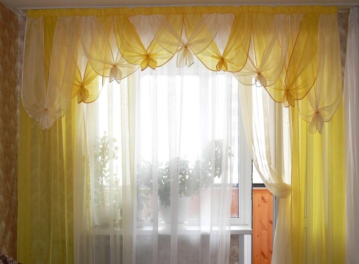 шторы из вуали с ламбрекенами