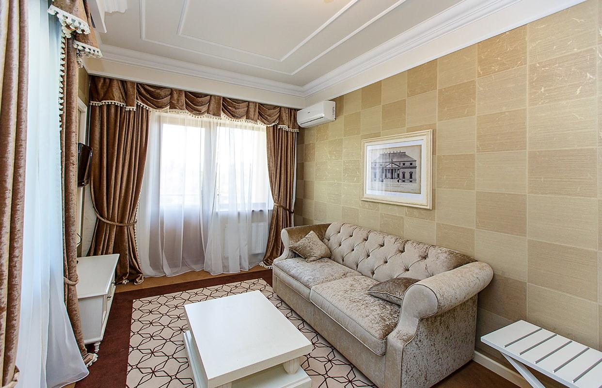 коричневые шторы дизайн