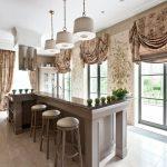 коричневые шторы фото дизайна