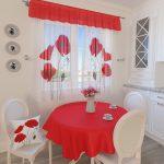 красные шторы дизайн