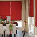 красные шторы дизайн идеи