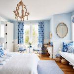 синие шторы идеи дизайн