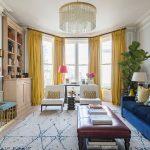 желтые шторы дизайн идеи