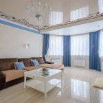 синие шторы фото дизайн