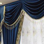 синие шторы фото интерьера