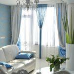 синие шторы фото вариантов