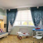 современные шторы в детскую комнату для мальчика
