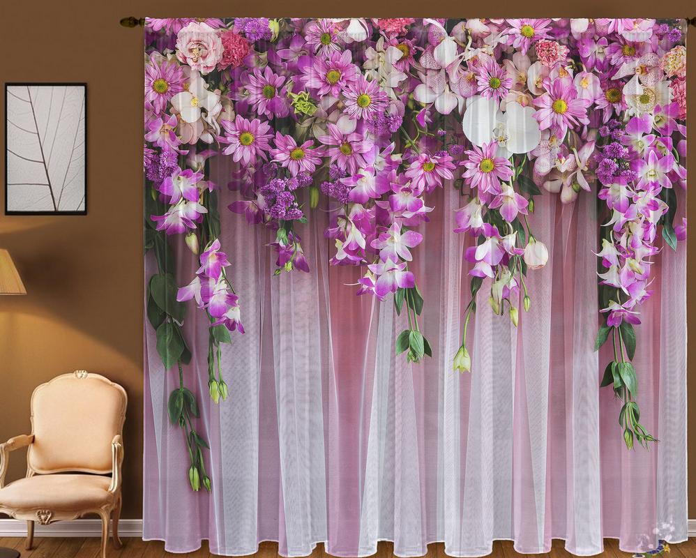 радужные шоры с цветами