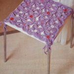 вязаные чехлы на стулья и табуреты виды фото