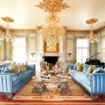 золотые шторы декор