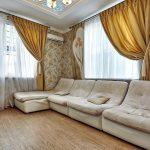 золотые шторы дизайн