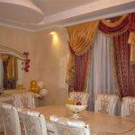 золотые шторы дизайн фото