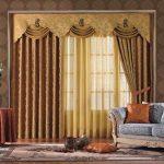 золотые шторы фото дизайн