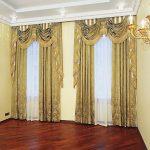 золотые шторы виды оформления