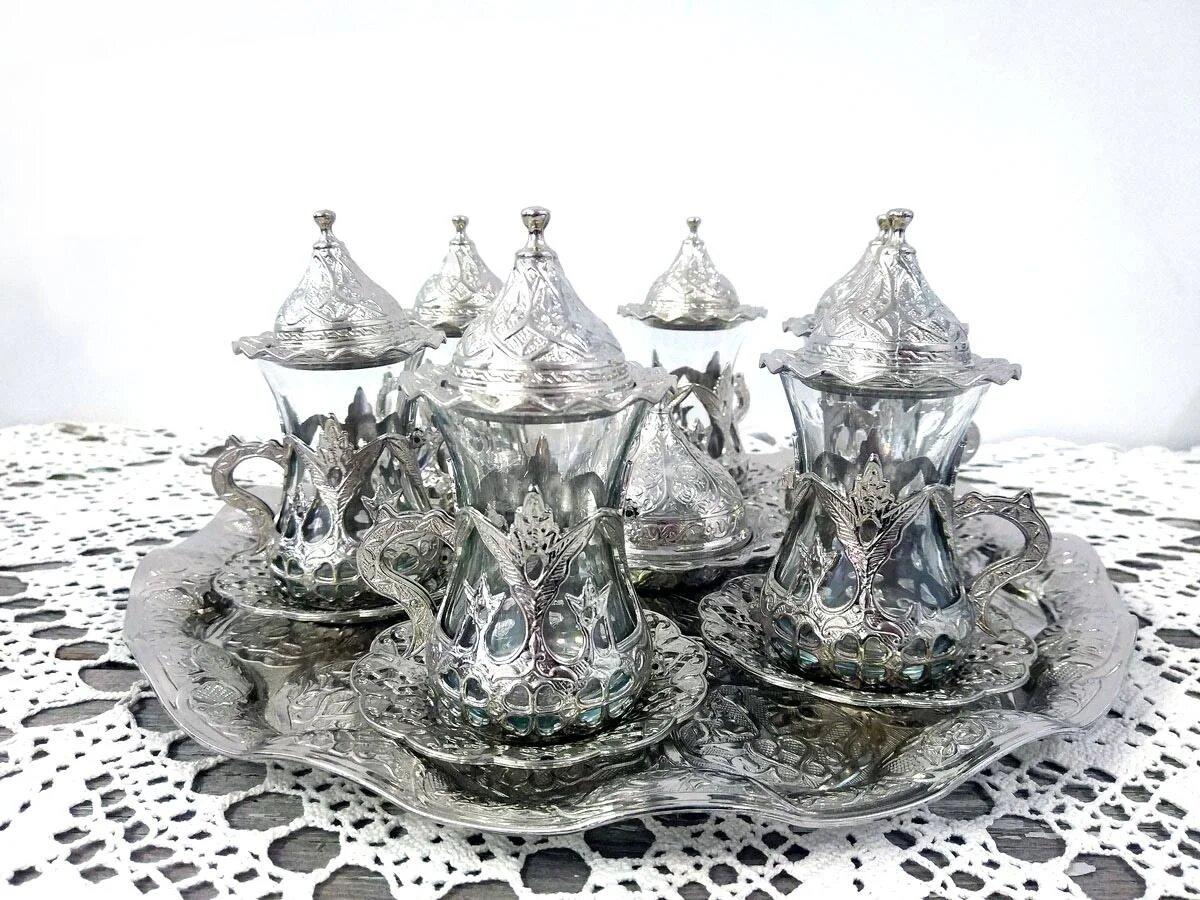 серебряные армуды для чая
