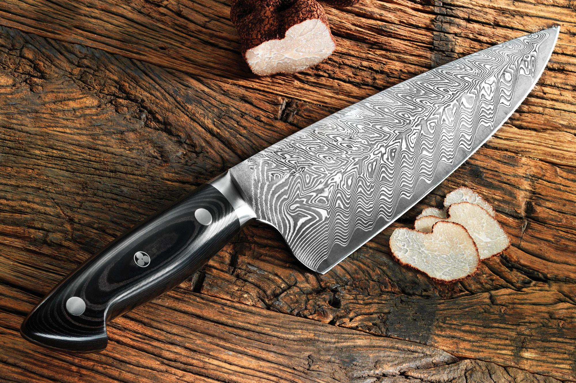 нож из дамасской стали фото