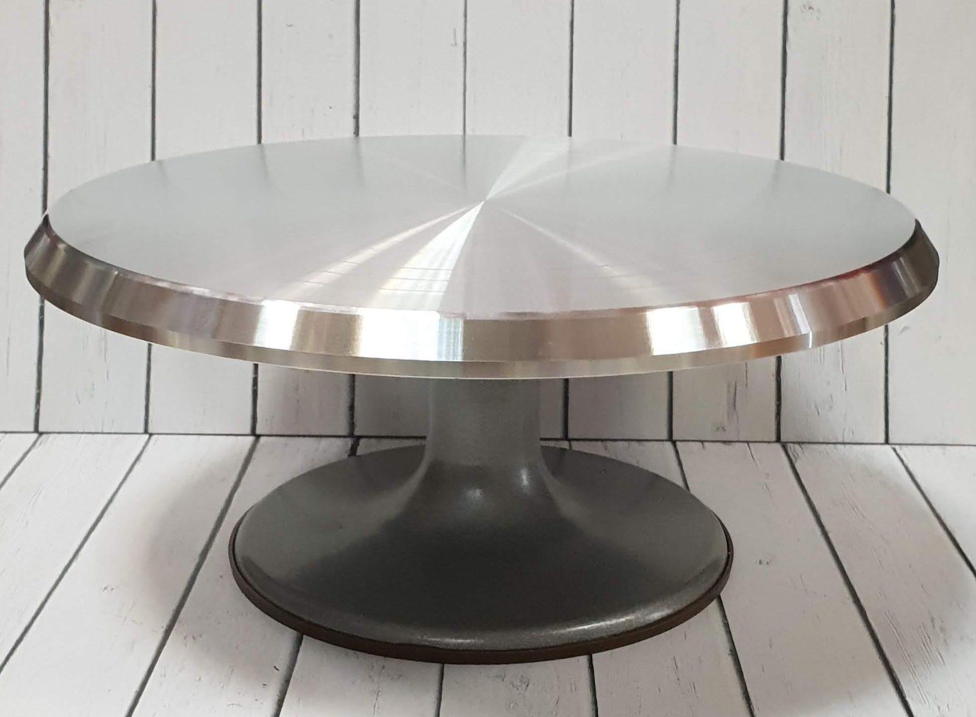 подставка для торта вращающаяся металлическая
