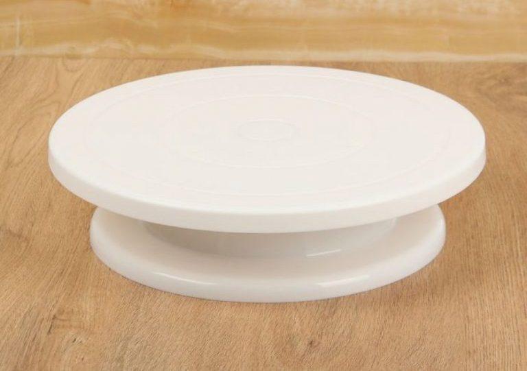 подставка для тортов поворотная пластиковая