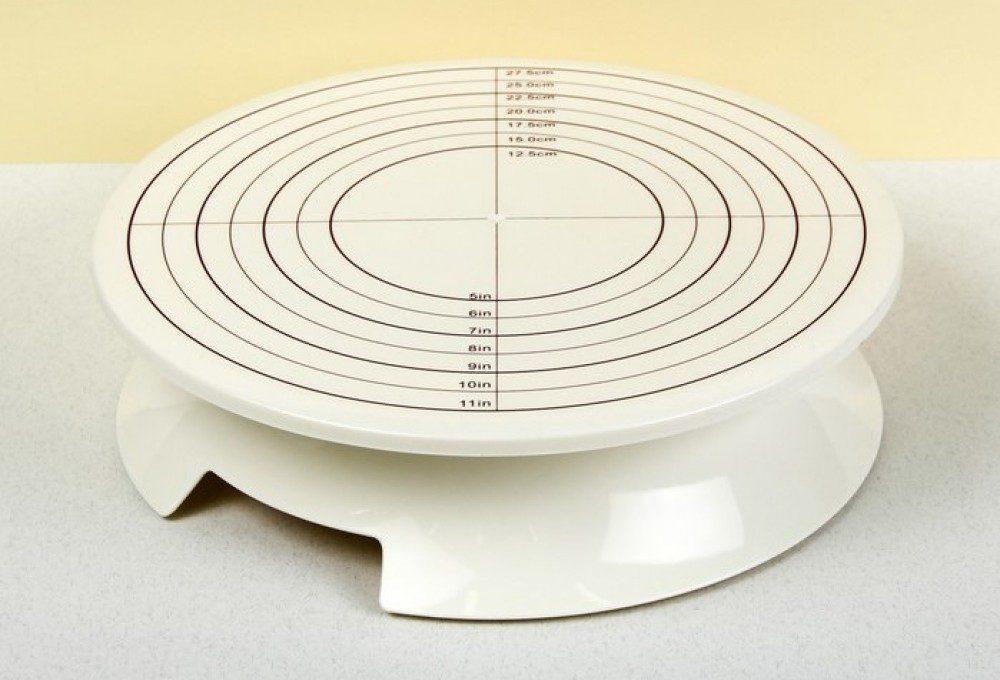 поворотная подставка для торта с разметкой