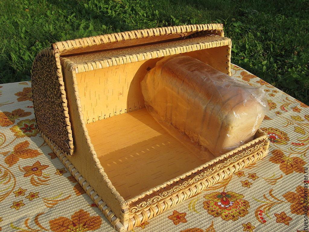 хлебница из бересты лебеди