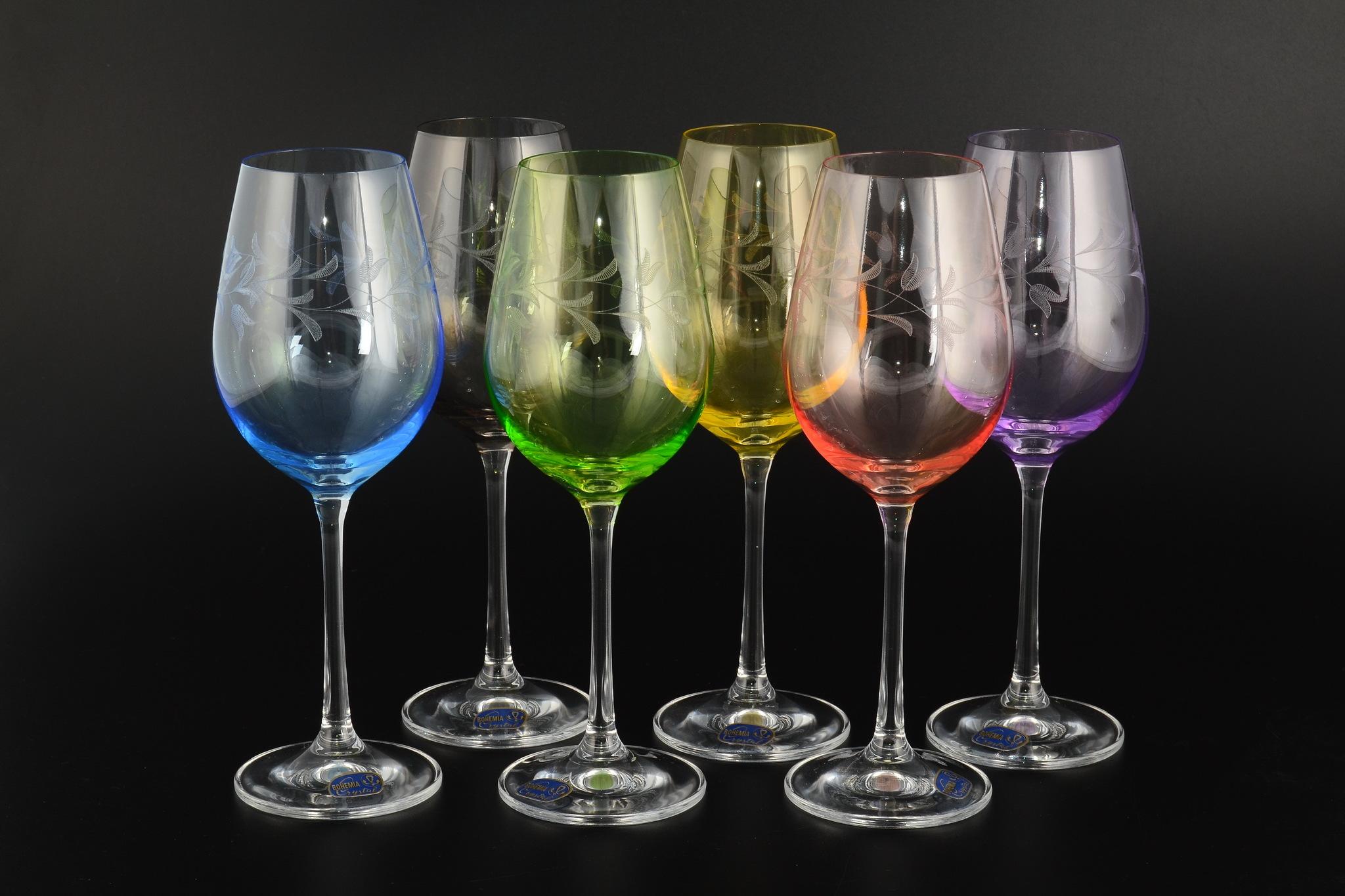 цветные бокалы для вина