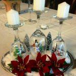 декор бокалов на новый год
