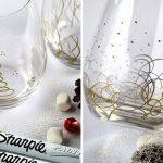 декор бокалов на новый год фото оформления