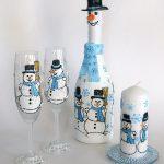 декор бокалов на новый год фото варианты