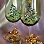декор бокалов на новый год фото вариантов