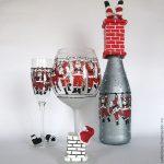 декор бокалов на новый год виды