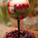декор бокалов подсвечников на новый год