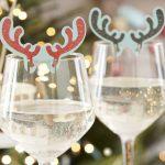 декор бокалов на новый год рожками