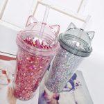 многоразовые стаканы с крышкой и трубочкой идеи
