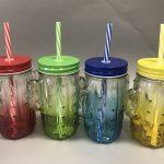 многоразовые стаканы с крышкой и трубочкой фтоо оформления