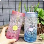 многоразовые стаканы с крышкой и трубочкой варианты идеи