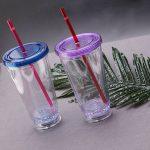 многоразовые стаканы с крышкой и трубочкой дизайн