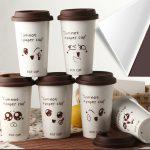 многоразовый стакан для кофе декор идеи