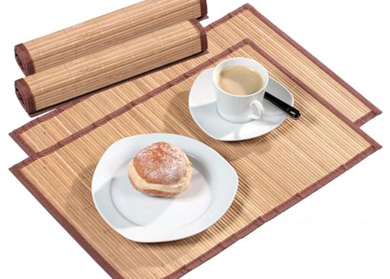 коврики для тарелок бамбук
