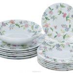 набор столовых тарелок для кухни оформление