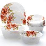 набор столовых тарелок для кухни оформление идеи