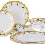 набор столовых тарелок для кухни виды