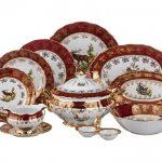 набор столовых тарелок для кухни фото идеи