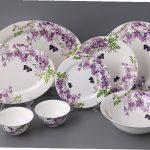 набор столовых тарелок для кухни виды оформления