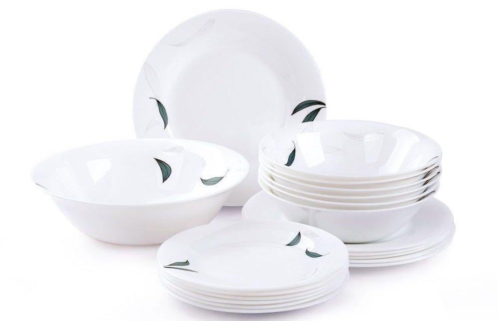 набор столовых тарелок фаарфор посудделюкс