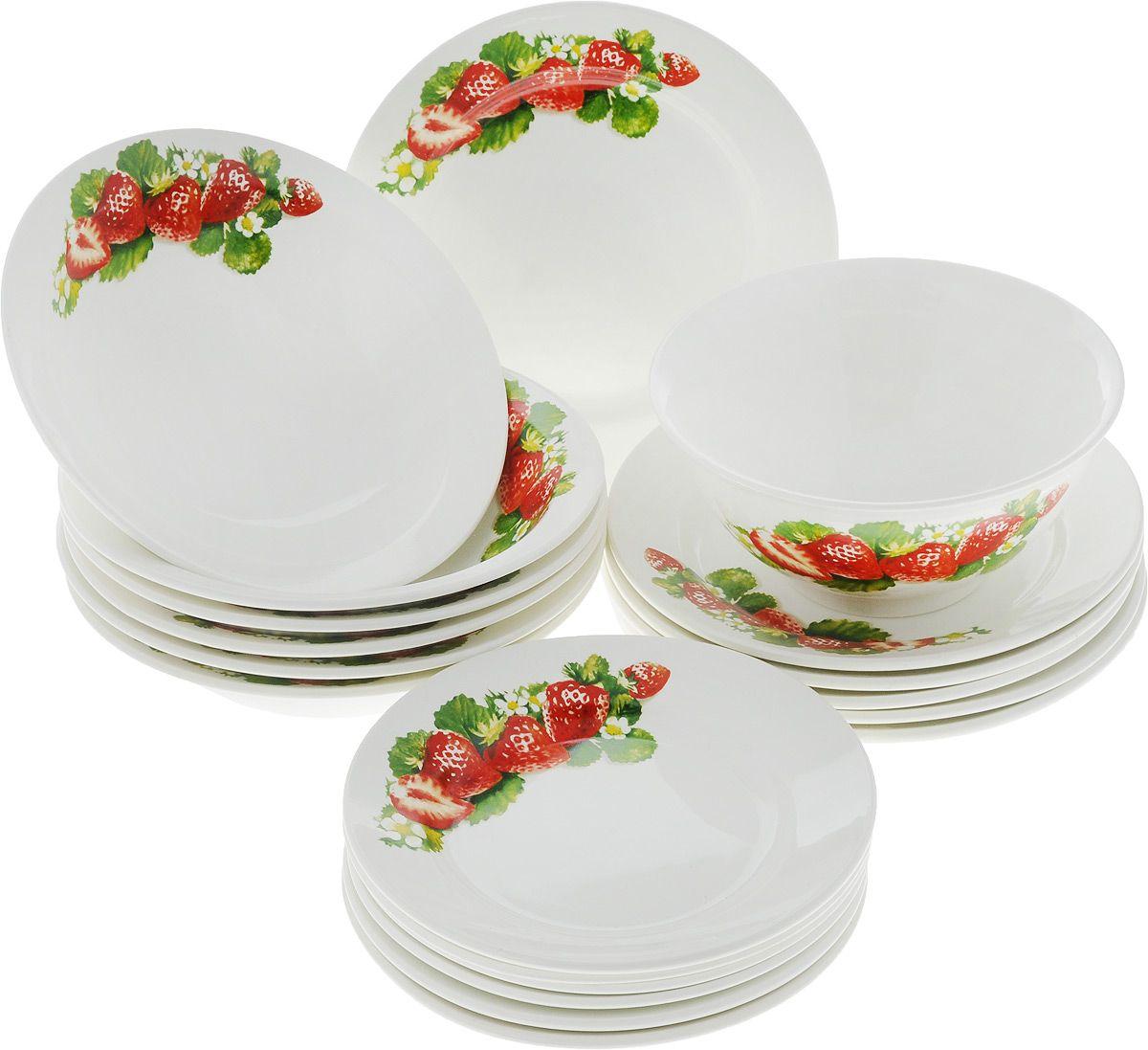 набор фаянсовых тарелок