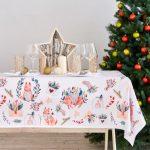 новогодние скатерти и салфетки фото оформление