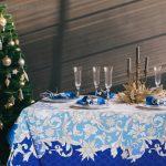 новогодние скатерти и салфетки фото дизайн