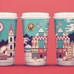 оригинальные кофейные стаканчики декор фото
