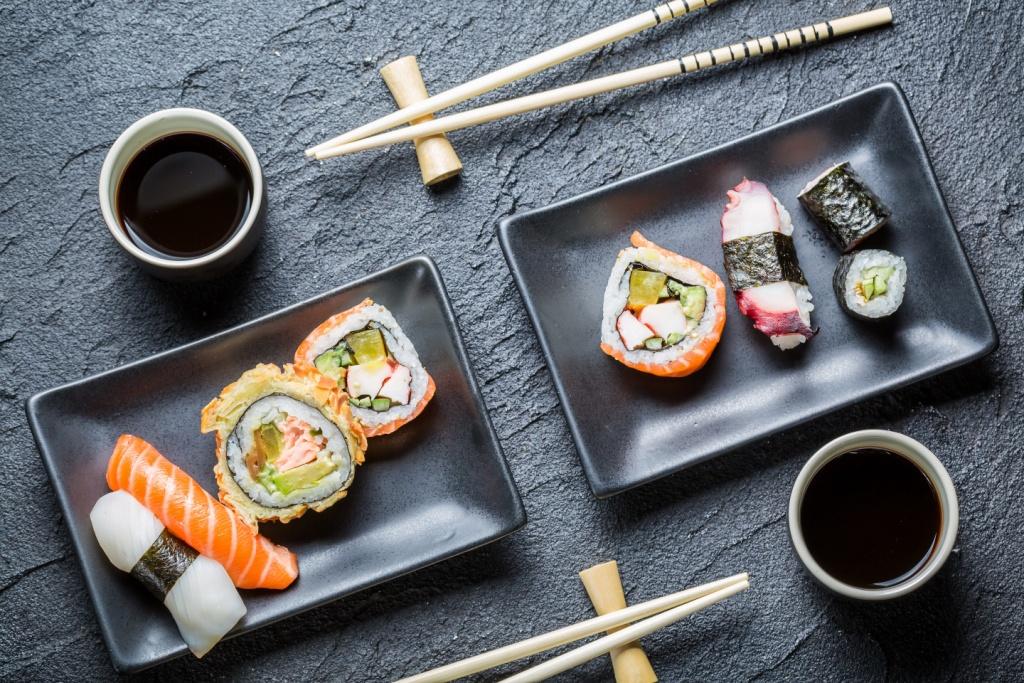 сервировка суши