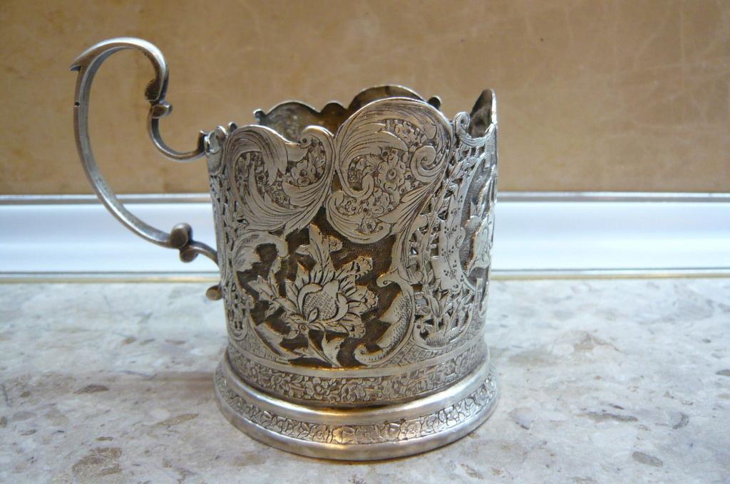 подстаканники для чайных стаканов из серебра
